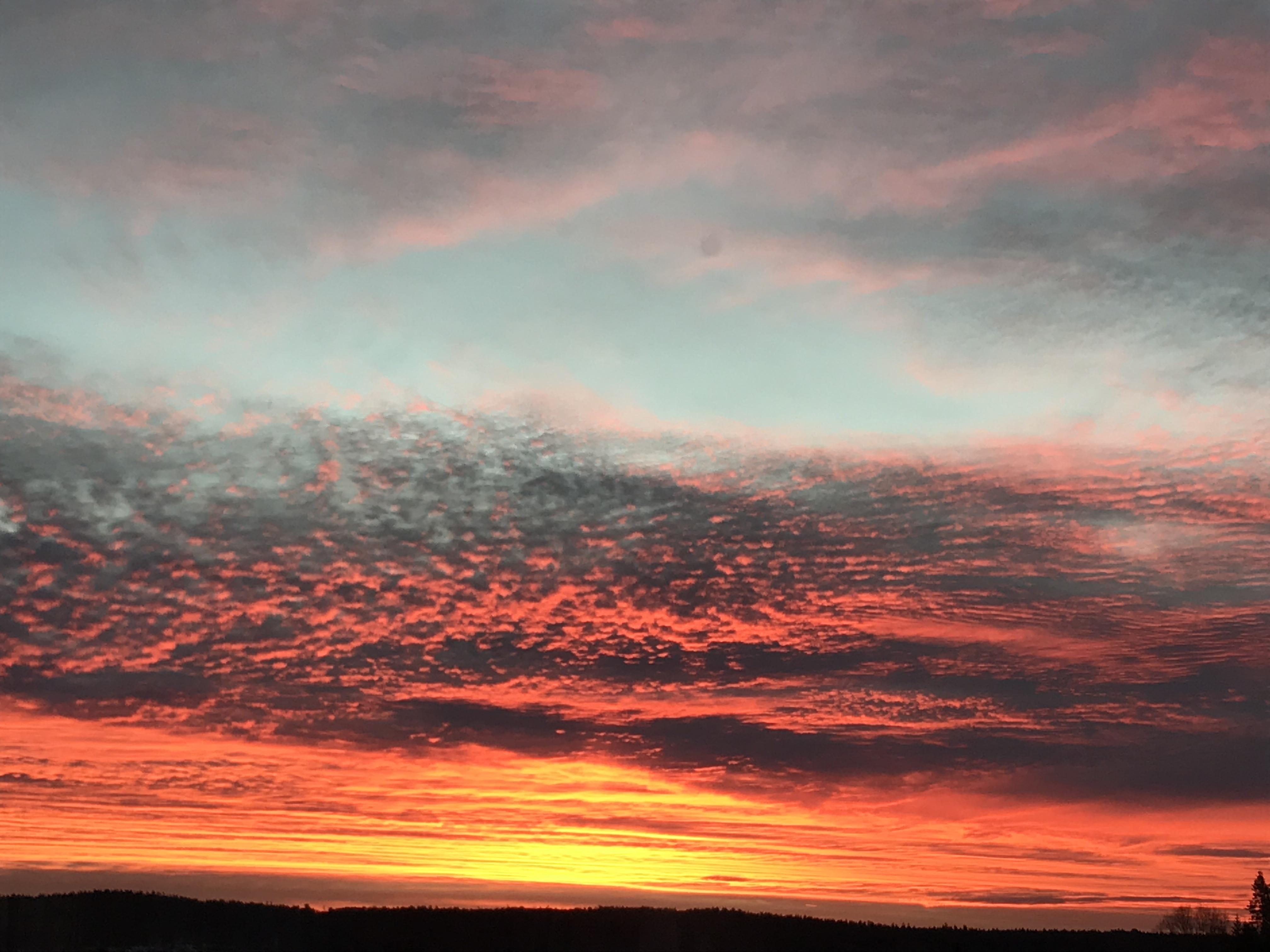 Sunrise in Norway Norway Norwegian thought yoga meditasjon morgenstemning